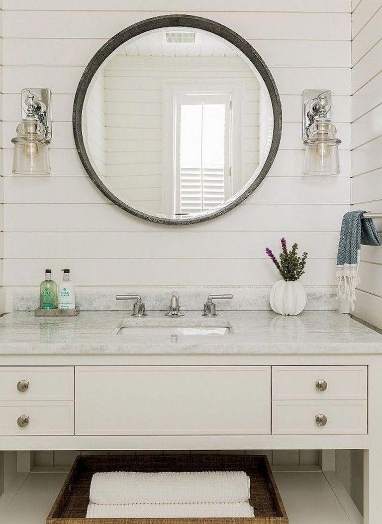 60 Pretty Coastal Beach House Bathroom Remodel Design Ideas