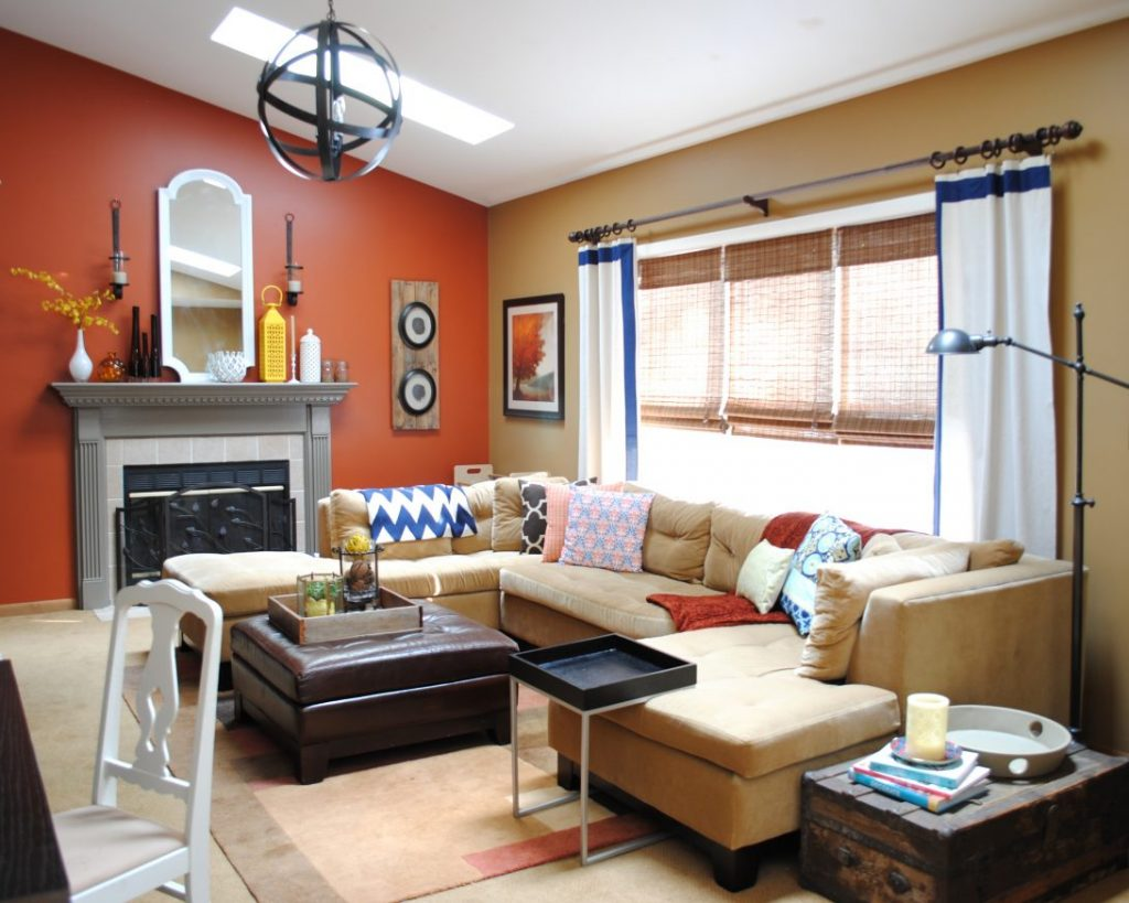 77 Most Fantastic Room Colour Combination Orange Living Ideas Wall