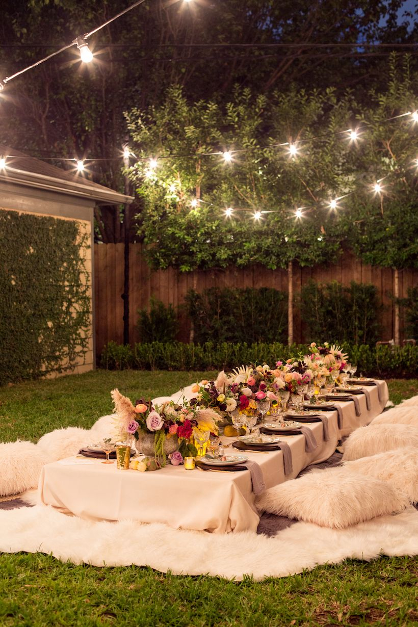 A Bohemian Backyard Dinner Party Beesonders Gemtlich Party
