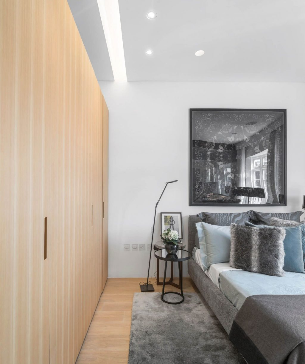 A Contemporary London Penthouse Filled With Art Master Bedroom