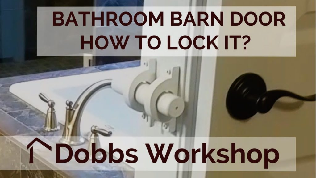 A Lock For A Bathroom Barn Door