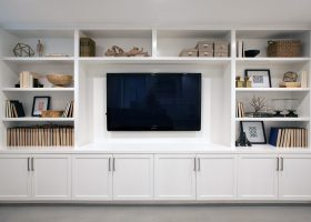 Living Room Built in Media Cabinets
