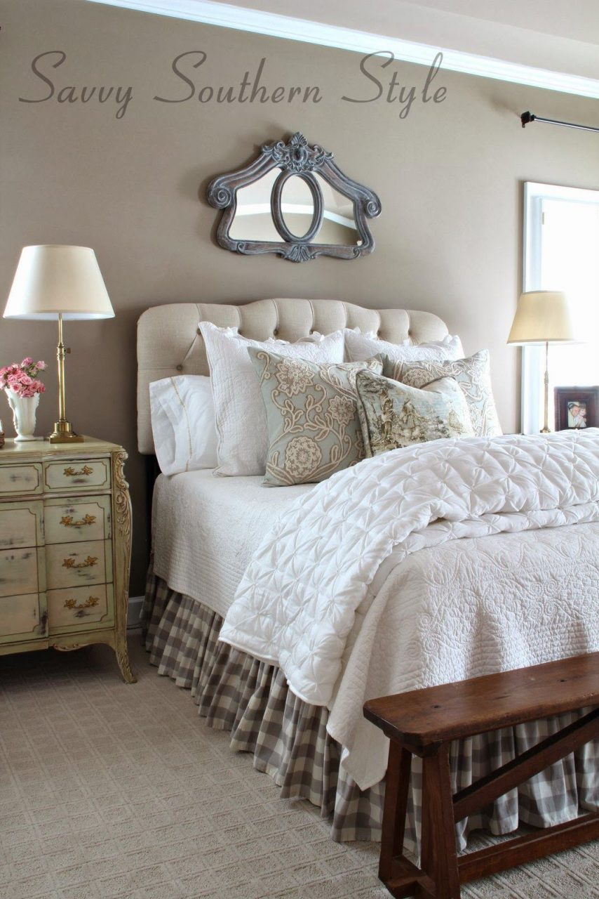 Adding French Farmhouse Style In The Master Fabulously Creative