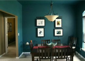 Blue Green Dining Room