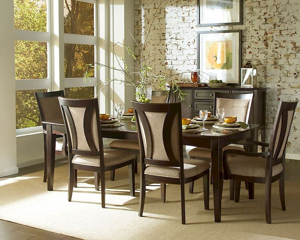 Aspen Dining Room Set In Espresso Asikj 6050s