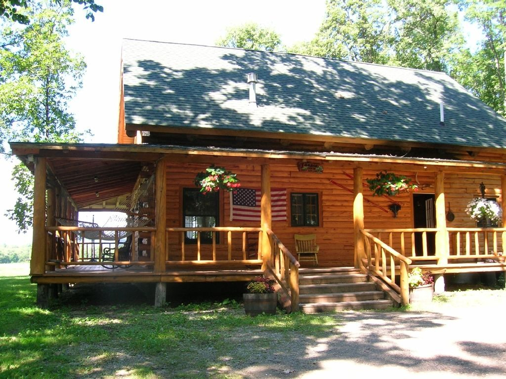 Authentic Log Cabin W Air Conditioning Hot Tub Near Lake Wmountain Views Addison County