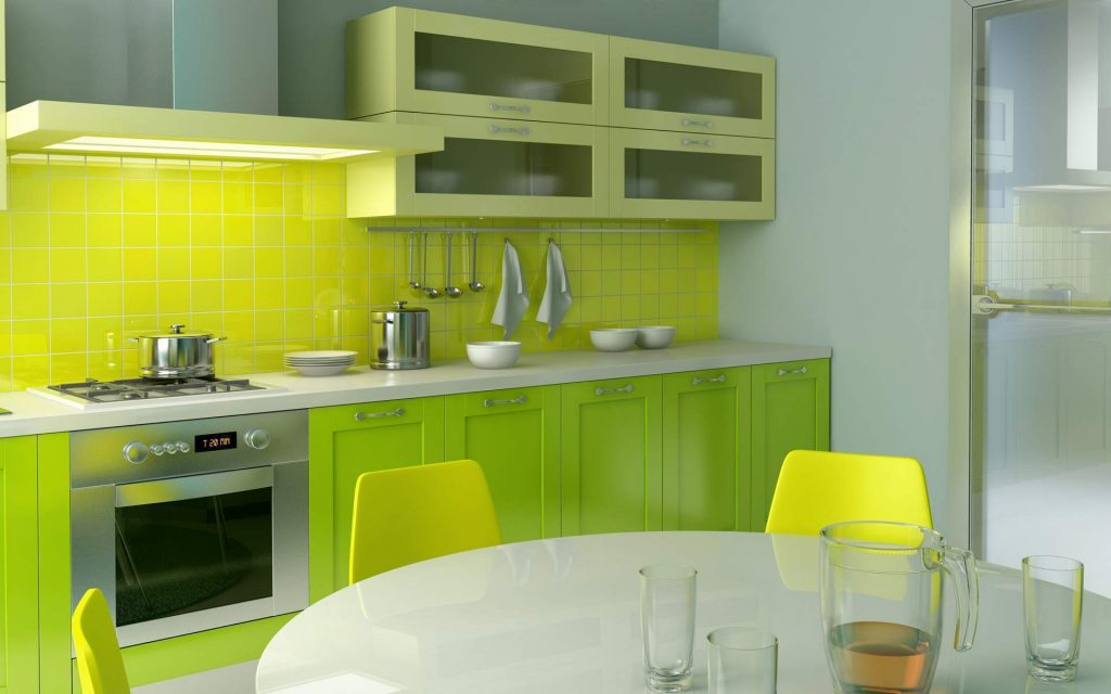 Awesome Green Lime Color Kitchen Design Ideas With Benimmulku