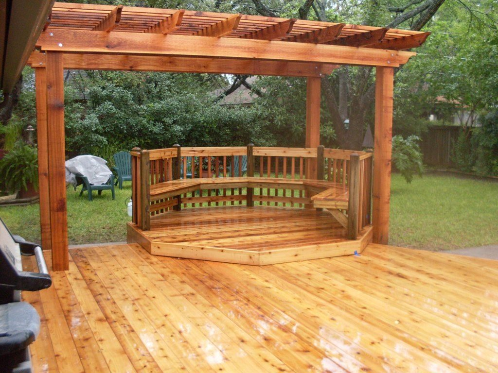 Backyard Bbq Decks Backyard Decks Cedar Deck Pergola Wood Pergola