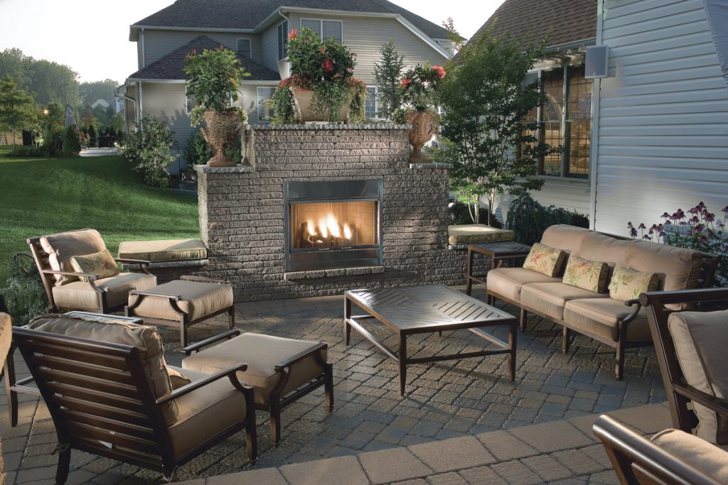 Backyard Patios With Fireplaces Fireplace Design Ideas