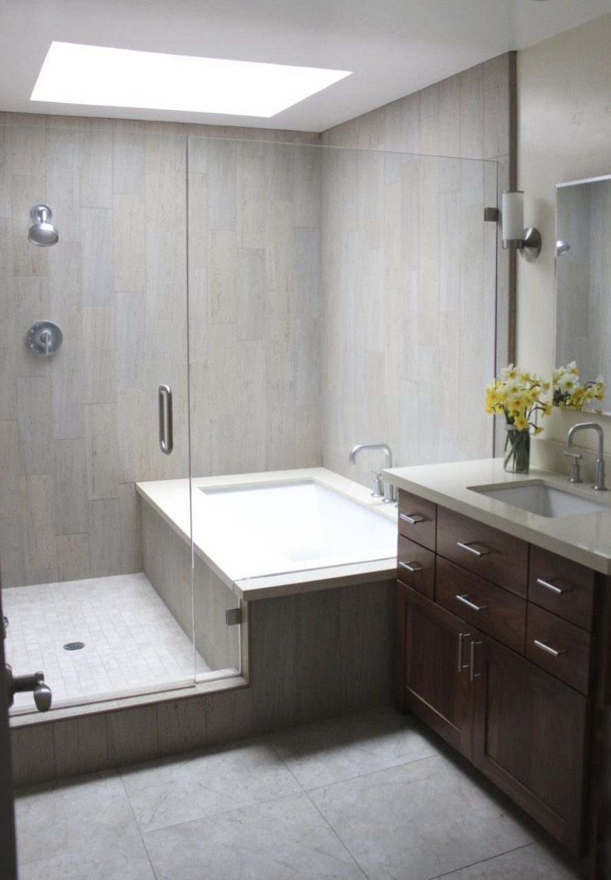 Bath And Shower Combined Dont Often See This Bathroom Ideas