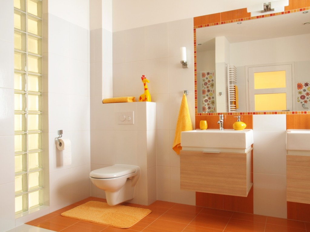 Bathroom Color Spotlight Orange