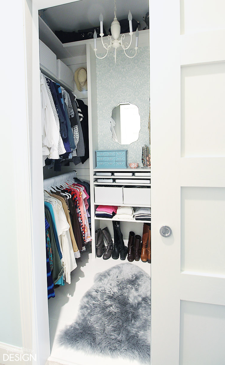 Bedroom Organization Cluttered Mess To Mini Dressing Room Closet