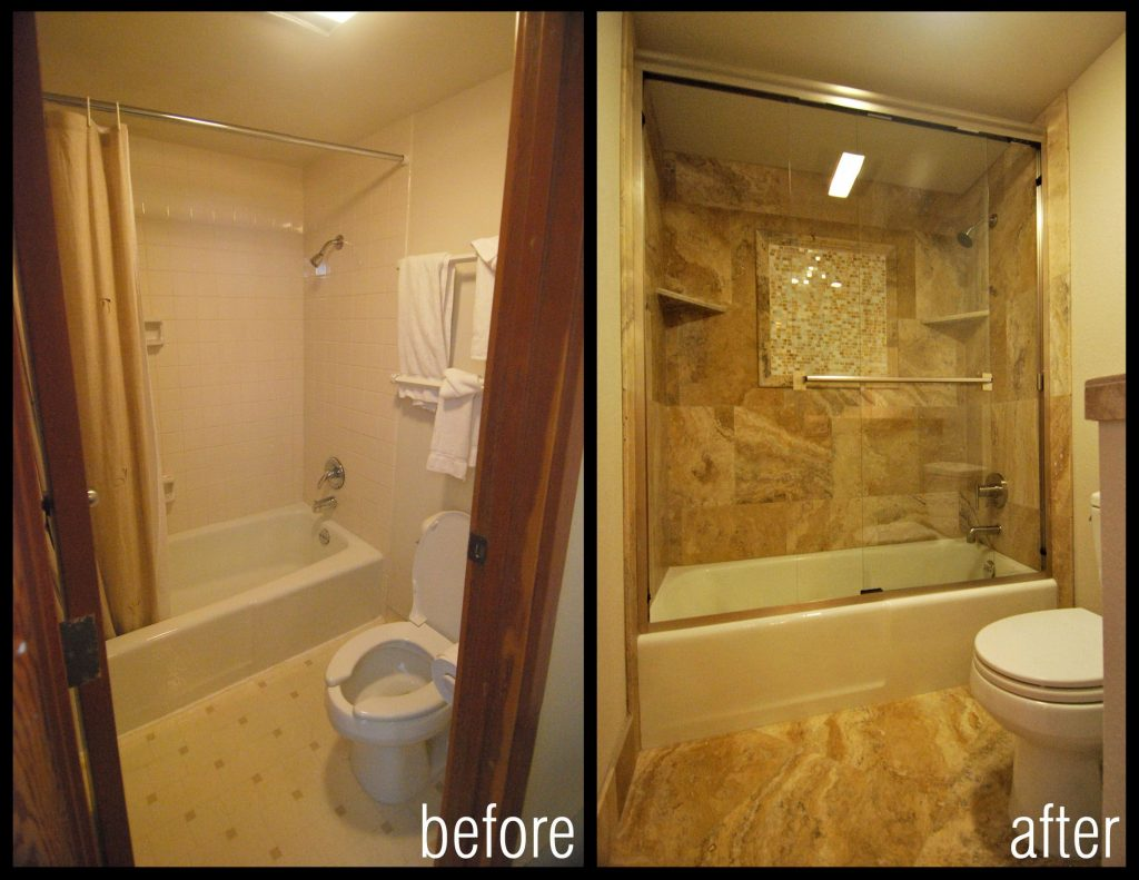 Before And After Images Of Bathroom Shower Remodels Condo Remodel