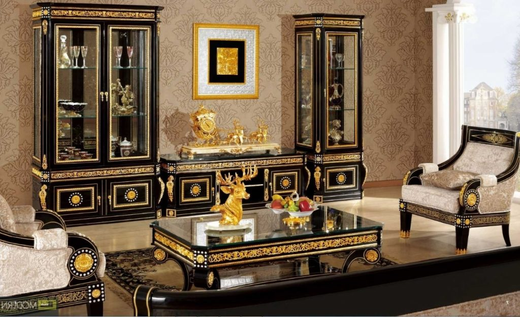 Black And Gold Living Room Furniture At Modern Classic Home Designs