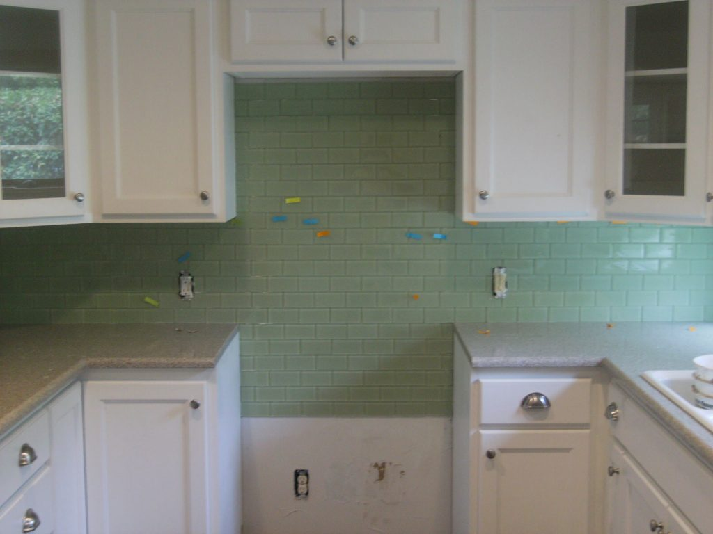 Blue Green Glass Subway Tile Backsplash Ideas For A Stodarts