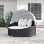 Brentwood Canopy Patio Daybed With Cushions