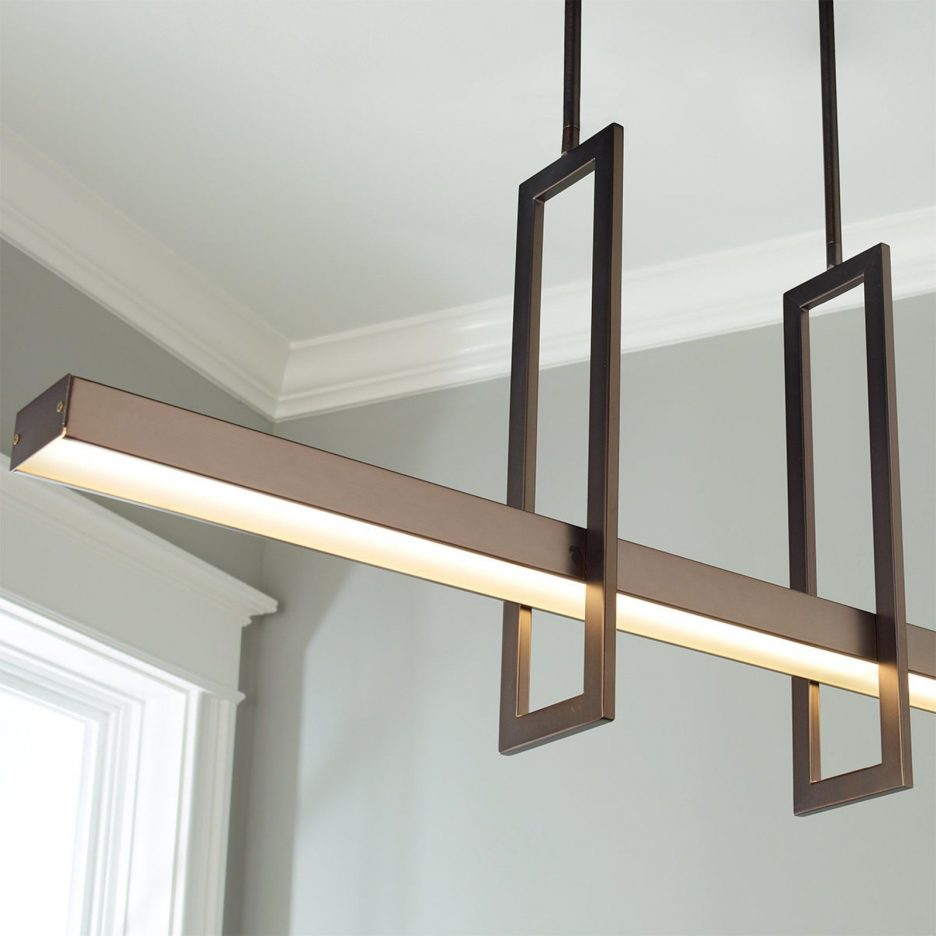 Brilliant Linear Dining Room Chandeliers For Current House Live
