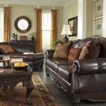 Burnt Orange As An Accent Color Old World Rooms Couch Loveseat