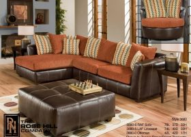 Burnt Orange Living Room Furniture Sets