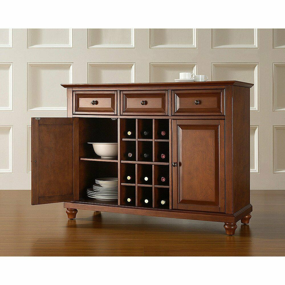 Cambridge Buffet Server Sideboard Cabinet With Wine Storage In