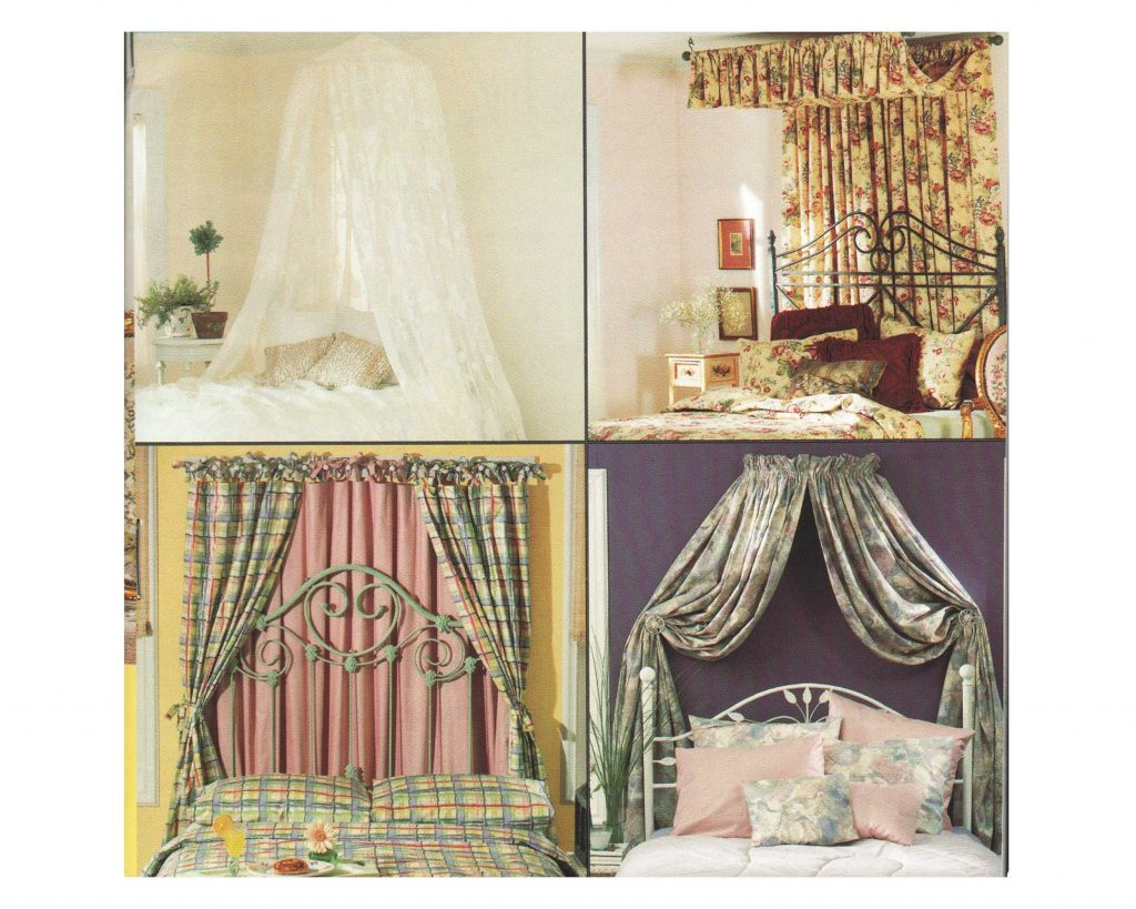 Canopy Bed Pattern Mosquito Net Corona Valance Canopies Sewing