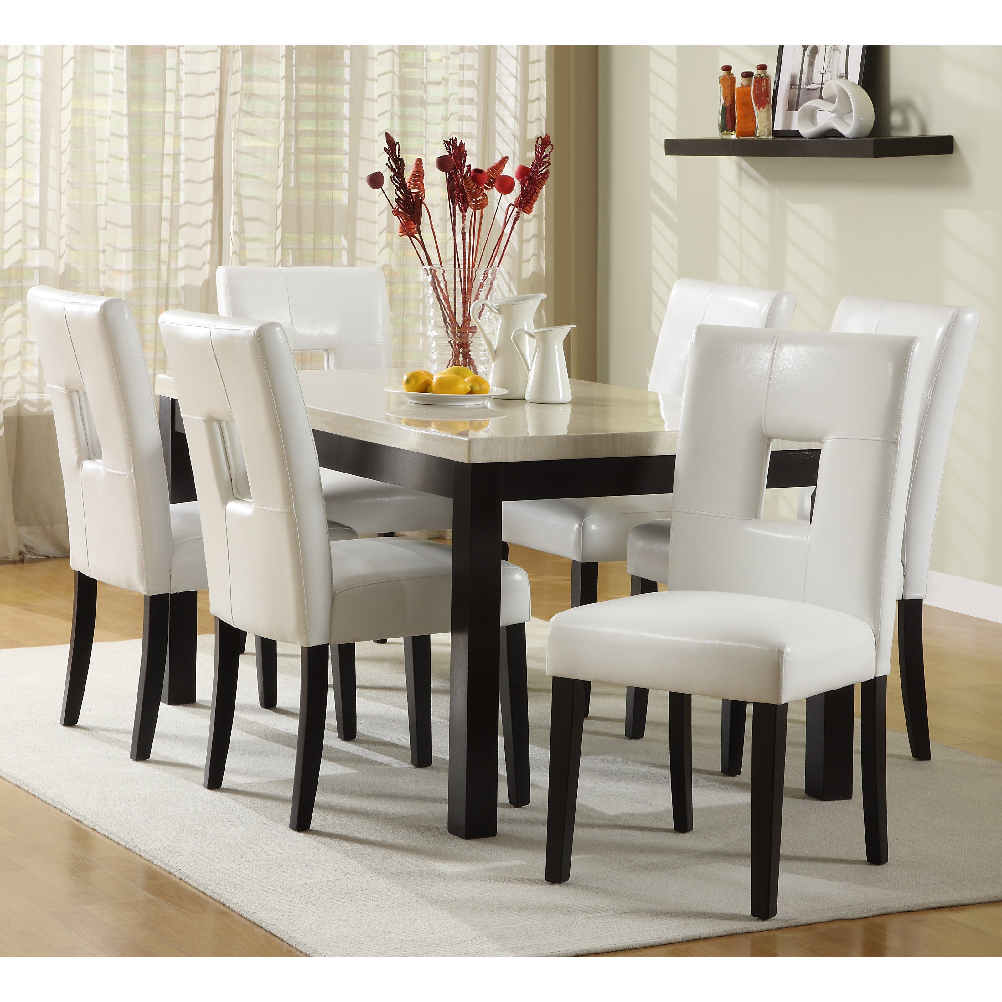 Chair Alluring Rectangle Espresso Finish Solid Wood Dining Table Layjao