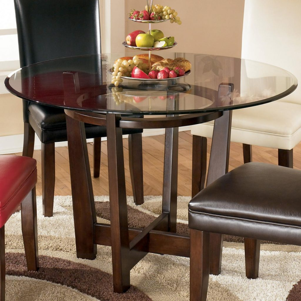Charrell Round Glass Top Table Signature Design Ashley At Wayside Furniture