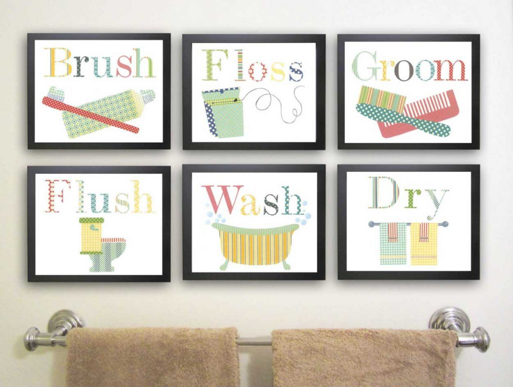 Childrens Bathroom Wall Art Ideas For Kids Bathroom Wall Decor To
