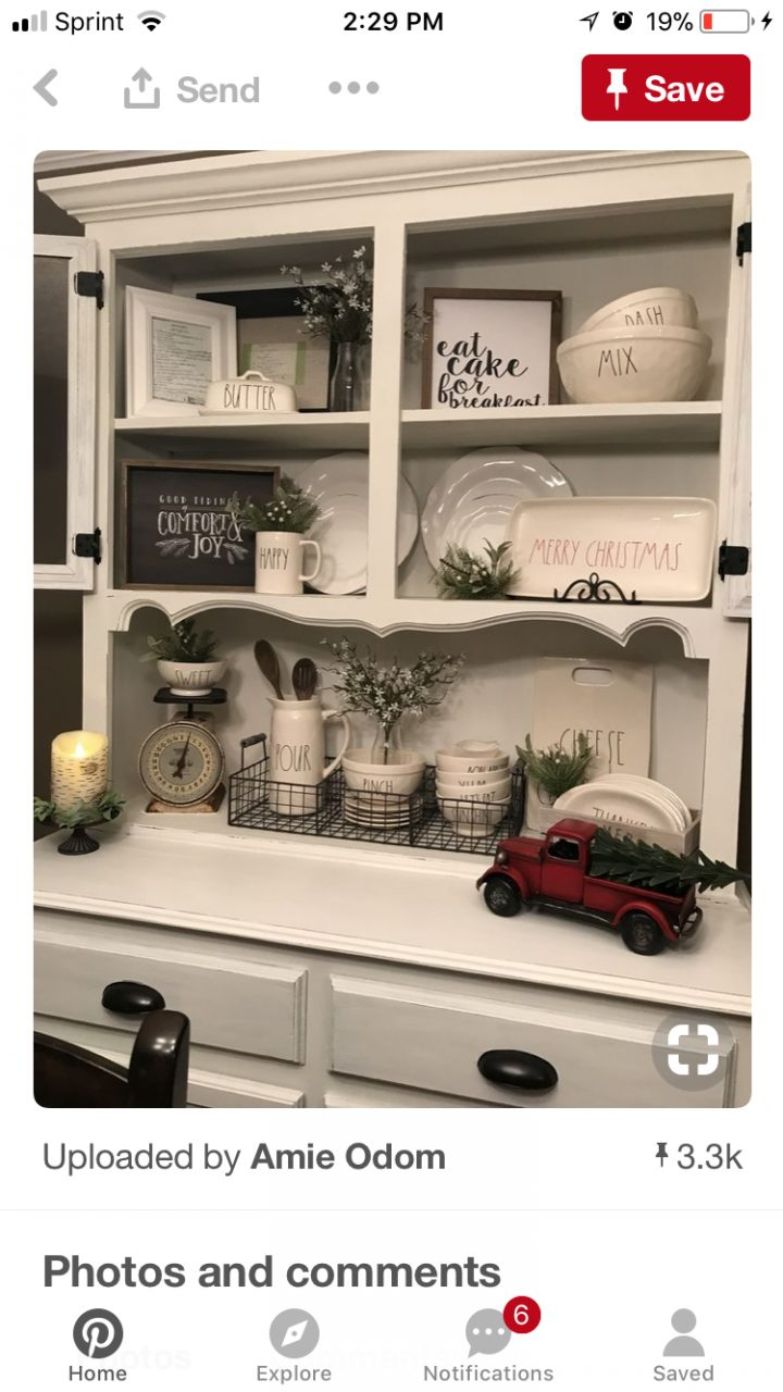 Christmas Decor For Hutch Home Ideas In 2019 Dining Room Hutch