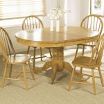 Round Pine Dining Room Table Sets