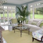 White and Blue Sun Room