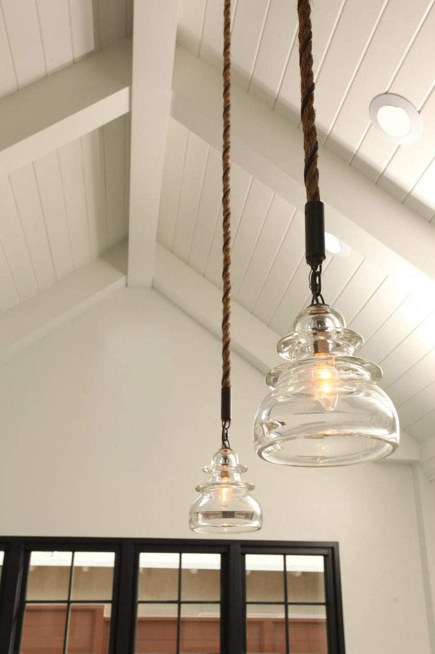 Country Style Pendant Lighting Adds A Rustic Warmth To This