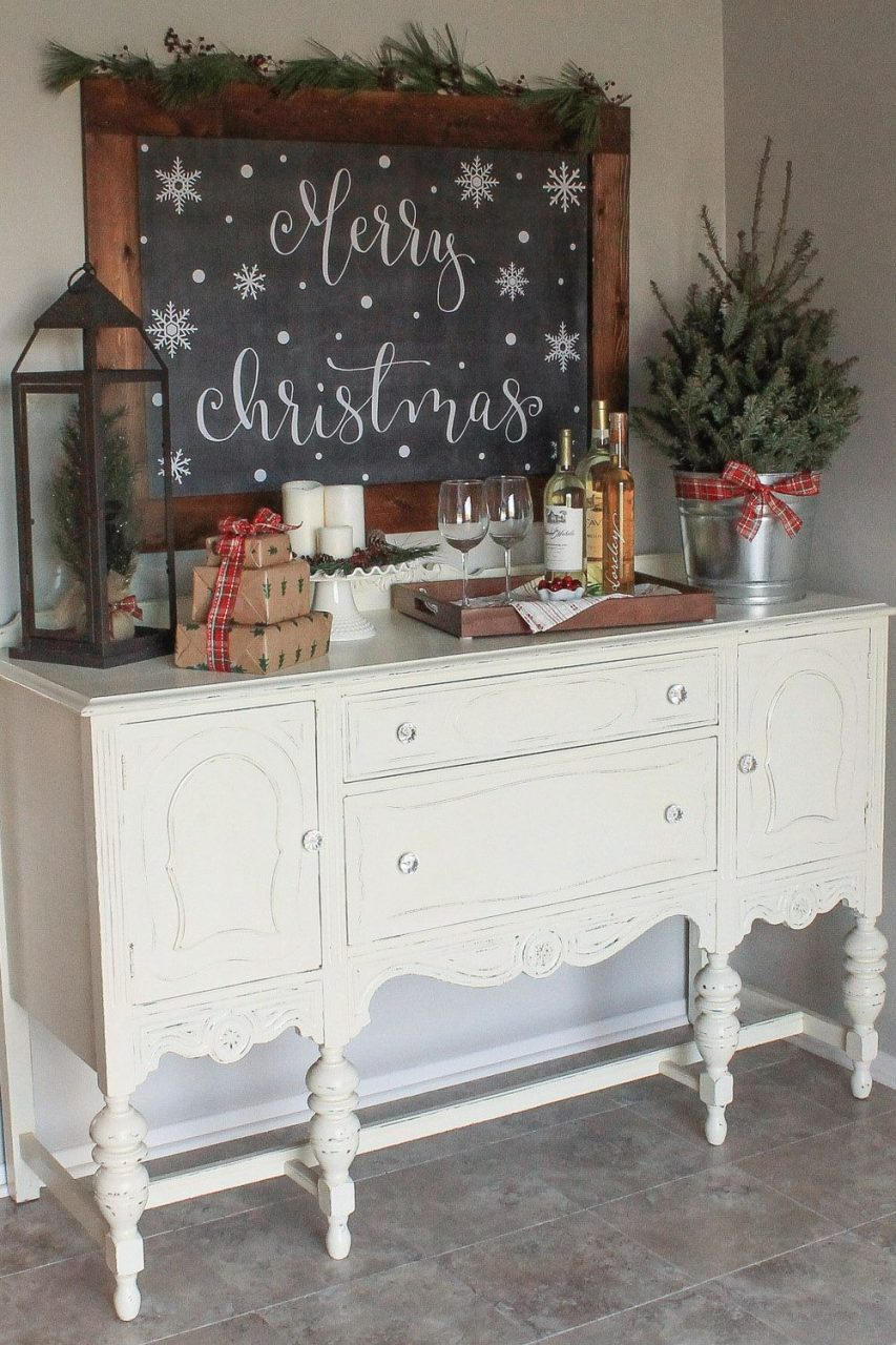 Cozy Christmas Kitchen Wine Nook Christmas Decor And Ideas