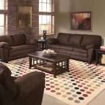 Dark Brown Living Room Furniture Burnt Orange Gray And Tan Modern