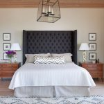 Gray Bedroom Headboard with Night Stand
