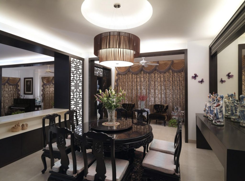 Design Ideas Kitchen Dining Room Asian Dining Room Design With Black