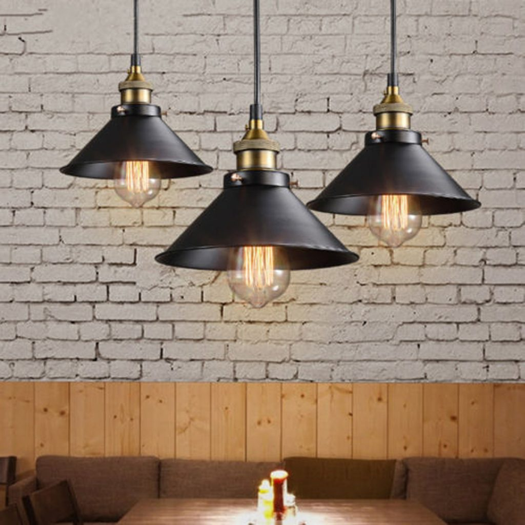 Details About Black Metal Industrial Hanging Pendant Light Vintage Commercial Kitchen Lamp