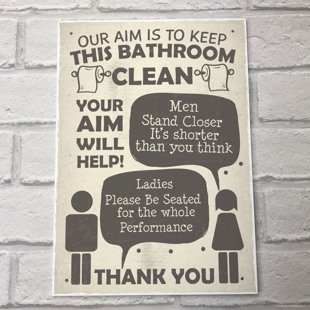 Details About Funny Bathroom Signs Toilet Door Wall Plaques Men Ladies Shab Chic Home Decor