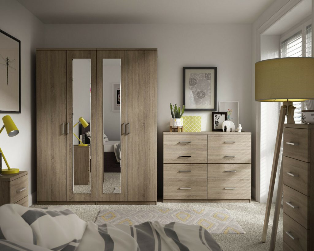 Details About Medina Bardolino Oak Wardrobe Drawer Set Fully Ready Assembled Bedroom Furniture