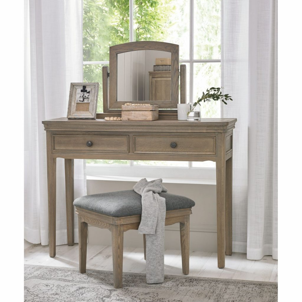 Details About Welford Oak Bedroom Furniture Grey Dressing Table Set