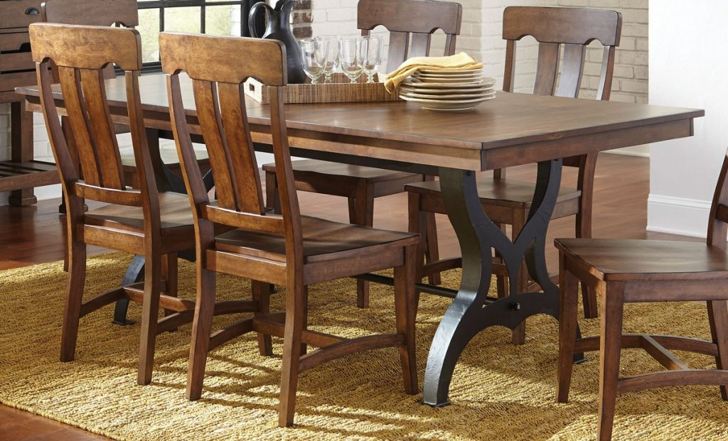 District Collection Industrial Dining Table