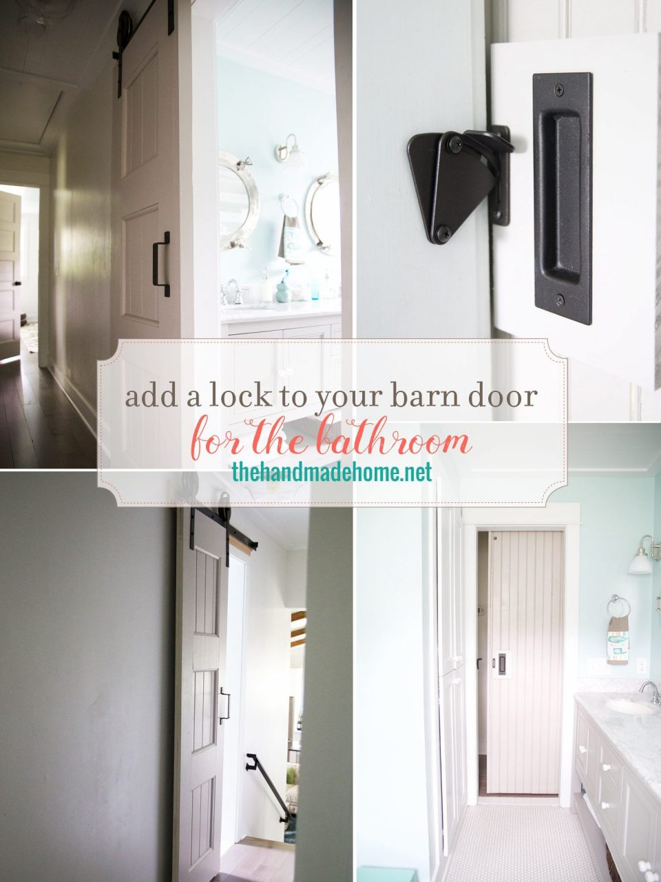 Diy Add A Lock To A Barn Door Bathrooms Bathroom Barn Door Barn