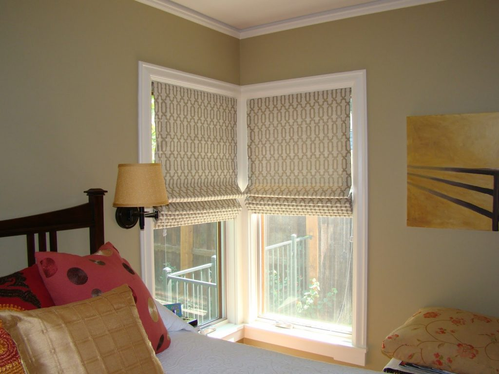 Door Window Cool Window Decor With Stylish Tulip Roman Shades