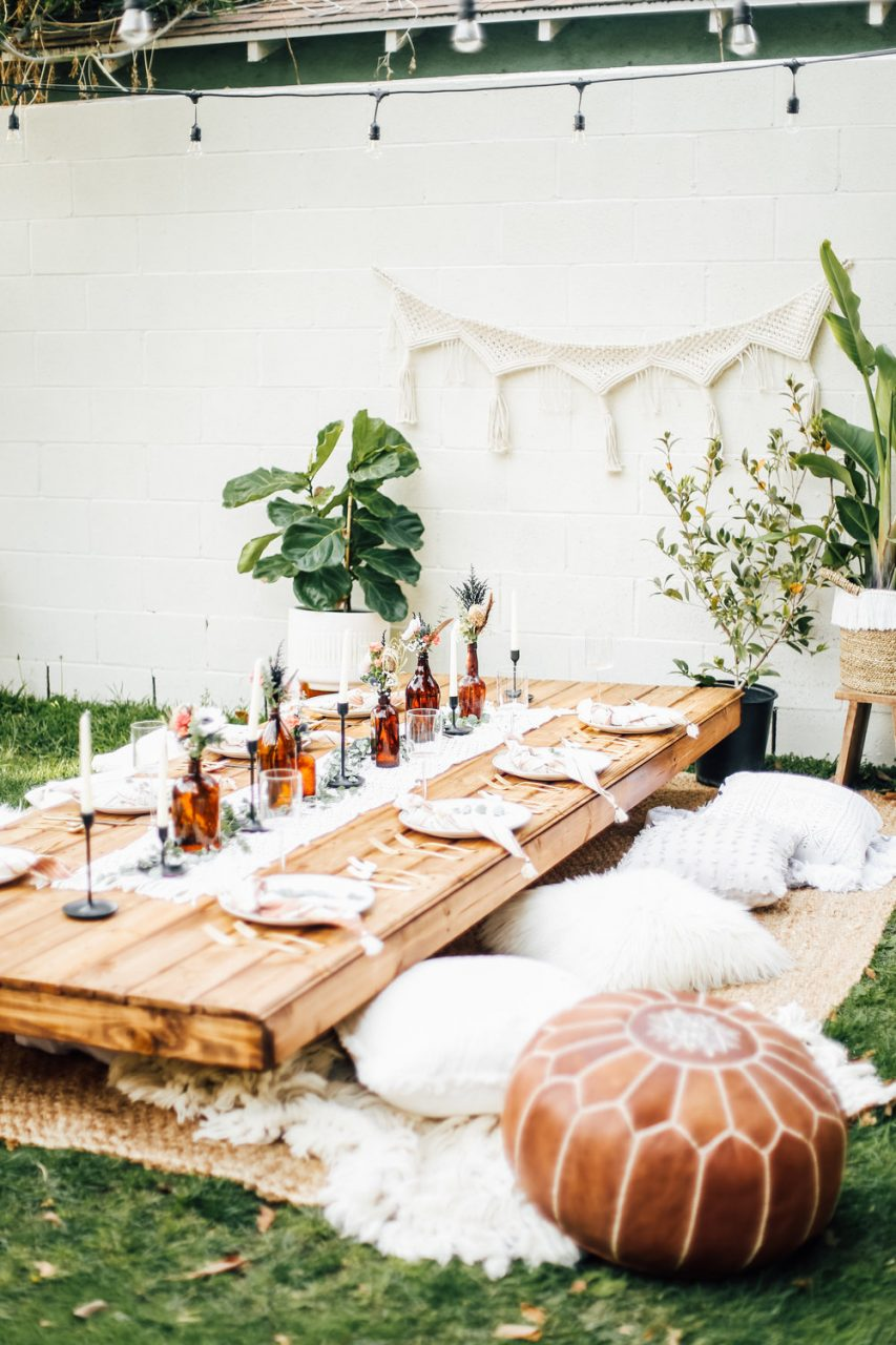 Dreamy Backyard Bohemian Dinner College Housewife