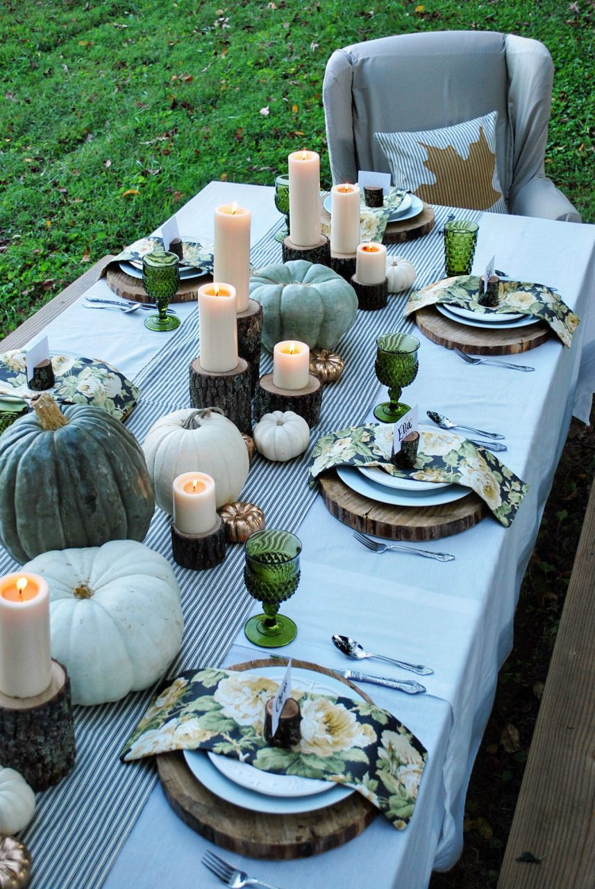 Enchanted Autumn H O L I D A Y S Thanksgiving Decorations Table