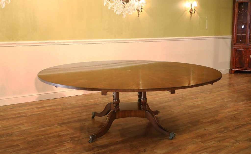 Extra Large 64 88 Inch Round Dining Table With Perimeter Leaves