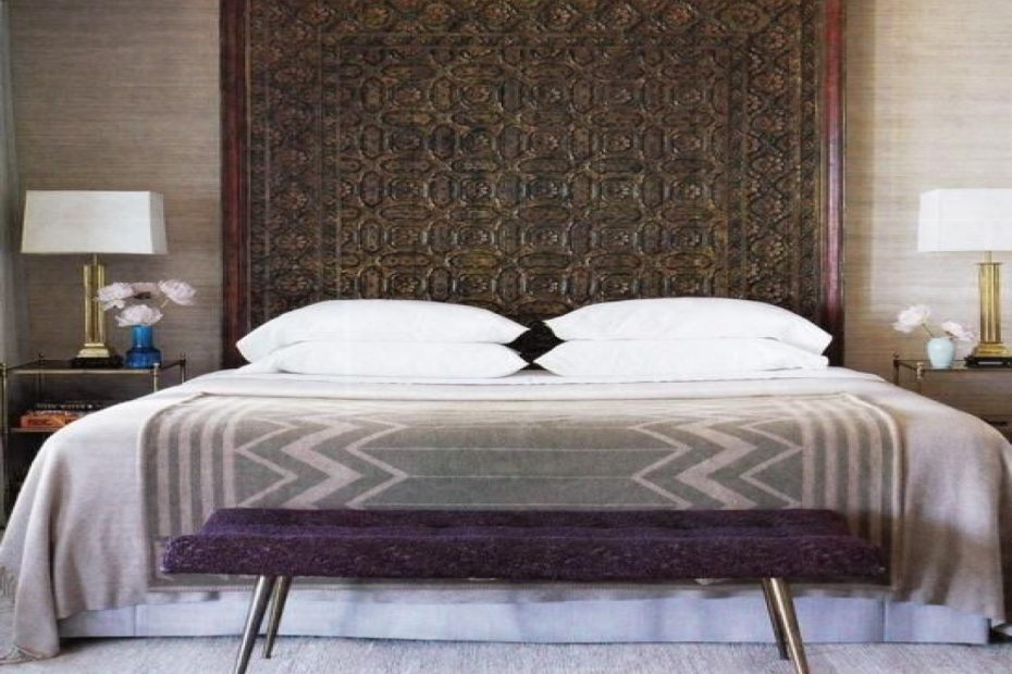 Extra Tall Solid Wood Forester Bed Headboard Balinese Carved Headboard