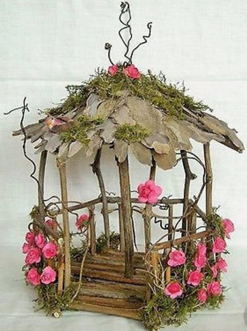 Fairy Garden Gazebo Natural Unfinished Wood Decorate Your Own