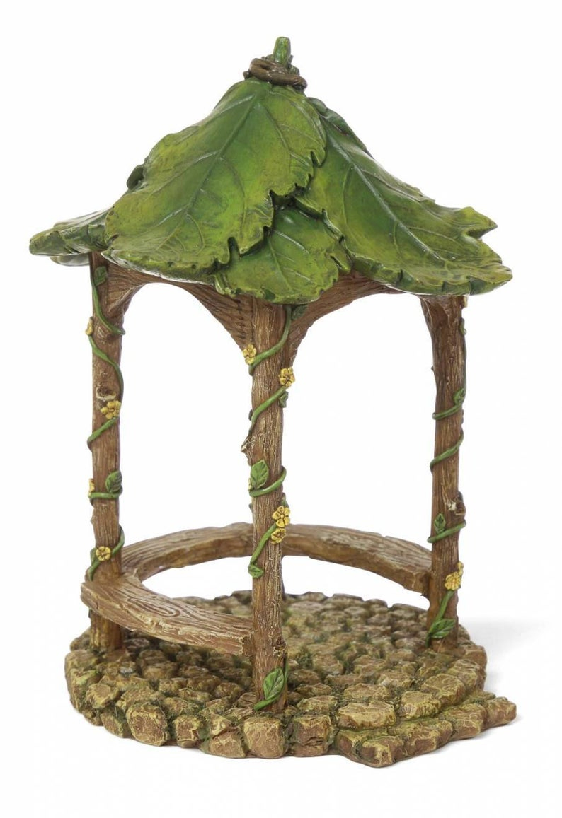 Fairy Garden Mini Forest Gazebo Miniature Supplies Accessories Dollhouse
