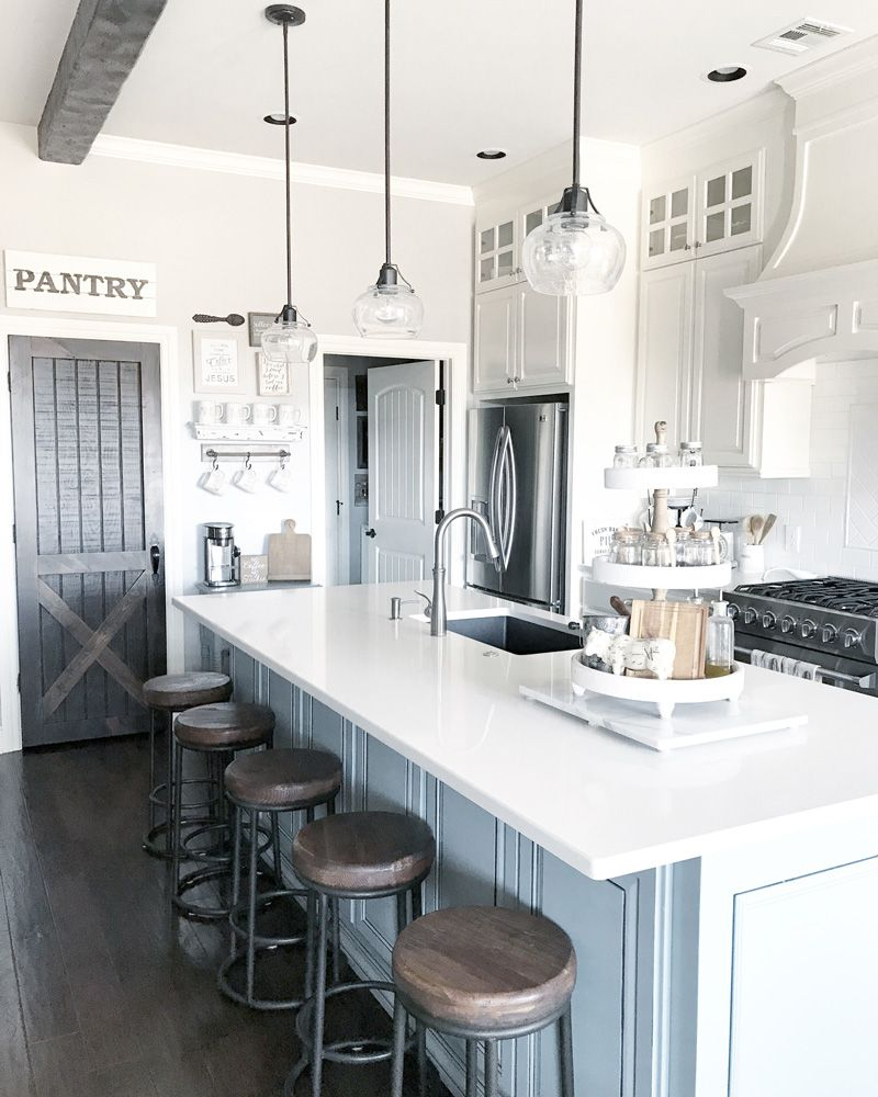 Farmhouse Kitchen Style And Design Ideas With A Pantry Barn Door